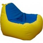 Пуф ПРИМТЕКС ПЛЮС кресло-груша Simba H-2240/H-2227 M Yellow-Blue (Simba H-2240/H-2227 M)