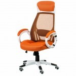 Офисное кресло Special4You Briz orange/white (000002193)