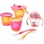 Набор детской посуды Tommee Tippee для первого прикорма для девочек от 4 мес (44673291)