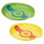 Набор детской посуды Munchkin Тарелки White Hot зеленаяя и желтая (012104.01)
