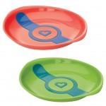 Набор детской посуды Munchkin Тарелки White Hot зеленаяя и оранжевая (012104.02)