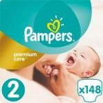Подгузник Pampers Premium Care Mini Размер 2 (3-6 кг), 148 шт. (4015400770275)