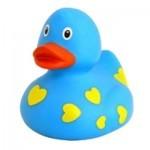 Игрушка для ванной LiLaLu Голубая утка в сердечках (L1042)