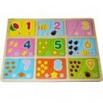 Развивающая игрушка Мир деревянных игрушек Веселая Арифметика (Р123)