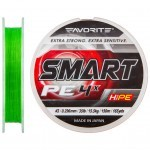Шнур Favorite Smart PE 4x 150м салатовый #3.0/0.296мм 15.5кг (1693.10.30)