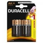 Батарейка Duracell AA MN1500 LR06 * 6 (5+1) (5000394107427)