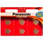 Батарейка PANASONIC CR 2032 * 6 LITHIUM (CR-2032EL/6B)