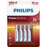 Батарейка PHILIPS AAA LR03 Power Alkaline * 4 (LR03P4B/10)