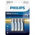 Батарейка PHILIPS AAA LR03 Ultra Alkaline * 4 (LR03E4B/10)