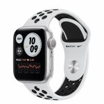 Apple Watch Nike Series 6 GPS 40mm Silver Aluminum Case with Pure Platinum/Black Nike Sport Band (M00T3)