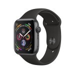 Apple Watch Series 4 (GPS) 44mm Space Gray Aluminum with Black Sport Band (MU6D2)
