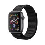 Apple Watch Series 4 (GPS) 44mm Space Gray Aluminum with Black Sport Loop (MU6E2)