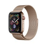 Apple Watch Series 4 (GPS + Cellular) 44mm Gold Stainless Steel with Gold Milanese Loop (MTV82, MTX52)