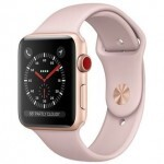 Apple Watch Series 3 (GPS + Cellular) 38mm Gold Aluminum Case with Pink Sand Sport Band (MQJQ2)