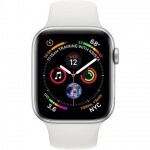 Apple Watch Series 4 GPS + LTE 44mm Aluminum Case w. White Sport B. (MTUU2)
