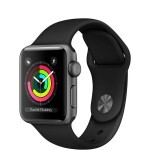 Apple Watch Series 3 (GPS) 38mm Space Gray Aluminum with Black Sport Band (MQKV2)