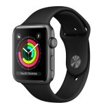 Apple Watch Series 3 (GPS) 42mm Space Gray Aluminum with Black Sport Band (MQL12)