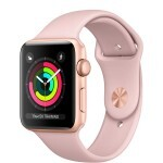 Apple Watch Series 3 (GPS) 42mm Gold Aluminum with Pink Sand Sport Band (MQL22)