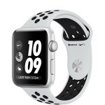 Apple Watch Nike+ Series 3 (GPS + Cellular) 42mm Silver Aluminum with Pure Platinum/Black Sport Band (MQLC2)