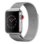 Apple Watch Series 3 (GPS + Cellular) 38mm Stainless Steel with Milanese Loop (MR1F2)