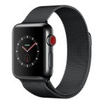 Apple Watch Series 3 (GPS + Cellular) 38mm Space Black Stainless Steel with Space Black Milanese Loop (MR1H2)
