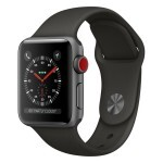 Apple Watch Series 3 (GPS + Cellular) 38mm Space Gray Aluminum with Gray Sport Band (MR2W2)