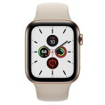 Apple Watch Series 5 (GPS + LTE) 44mm Gold Steel with Stone Sport Band (MWW52)