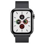 Apple Watch Series 5 (GPS + LTE) 44mm Space Black Stainless Steel Case with Space Black Milanese Loop (MWW82)